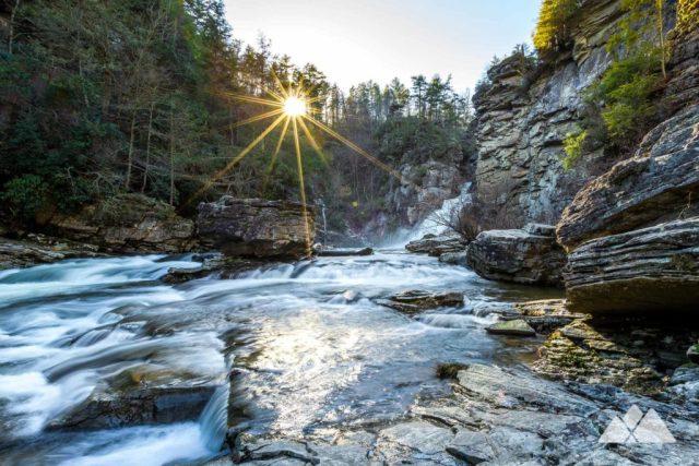 910 Area Code Linville Falls in Winter