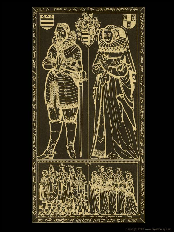 Image result for brass plate to Sir Edward Filmer