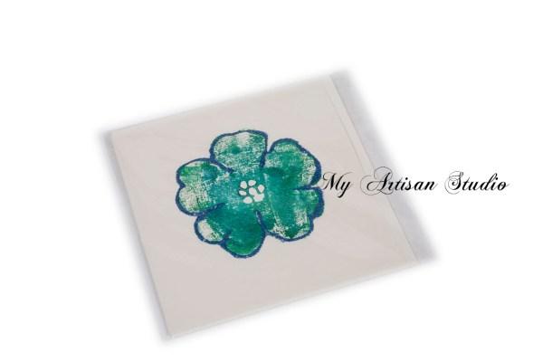 Blue glitter flower gift card Ballarat
