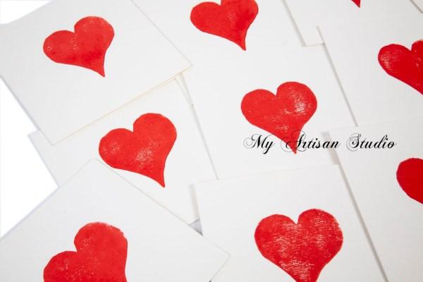 Heart Valentines greeting card Ballarat
