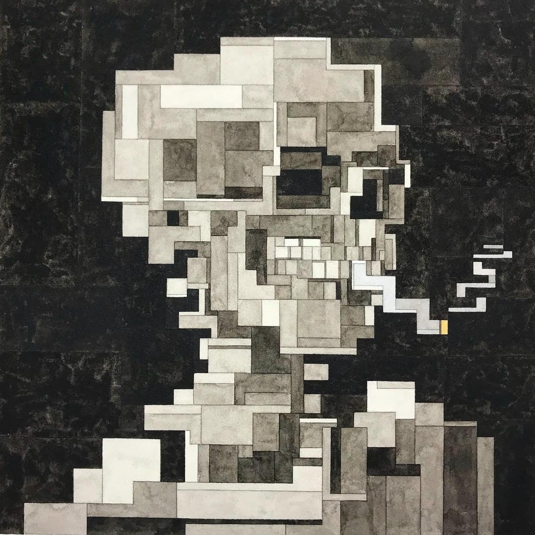 Adam Lister 8 bit painting