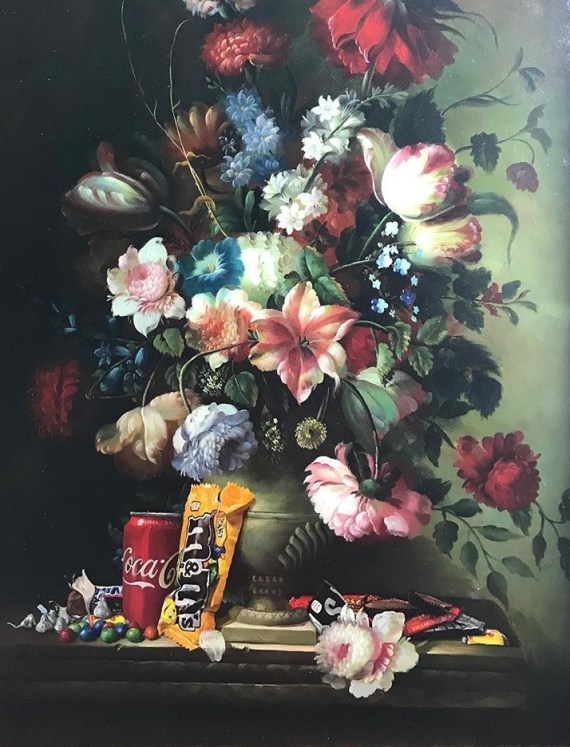 pop culture still life by dave pollot