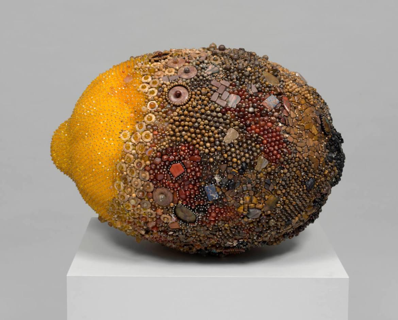 moldy lemon sculpture by Kathleen Ryan
