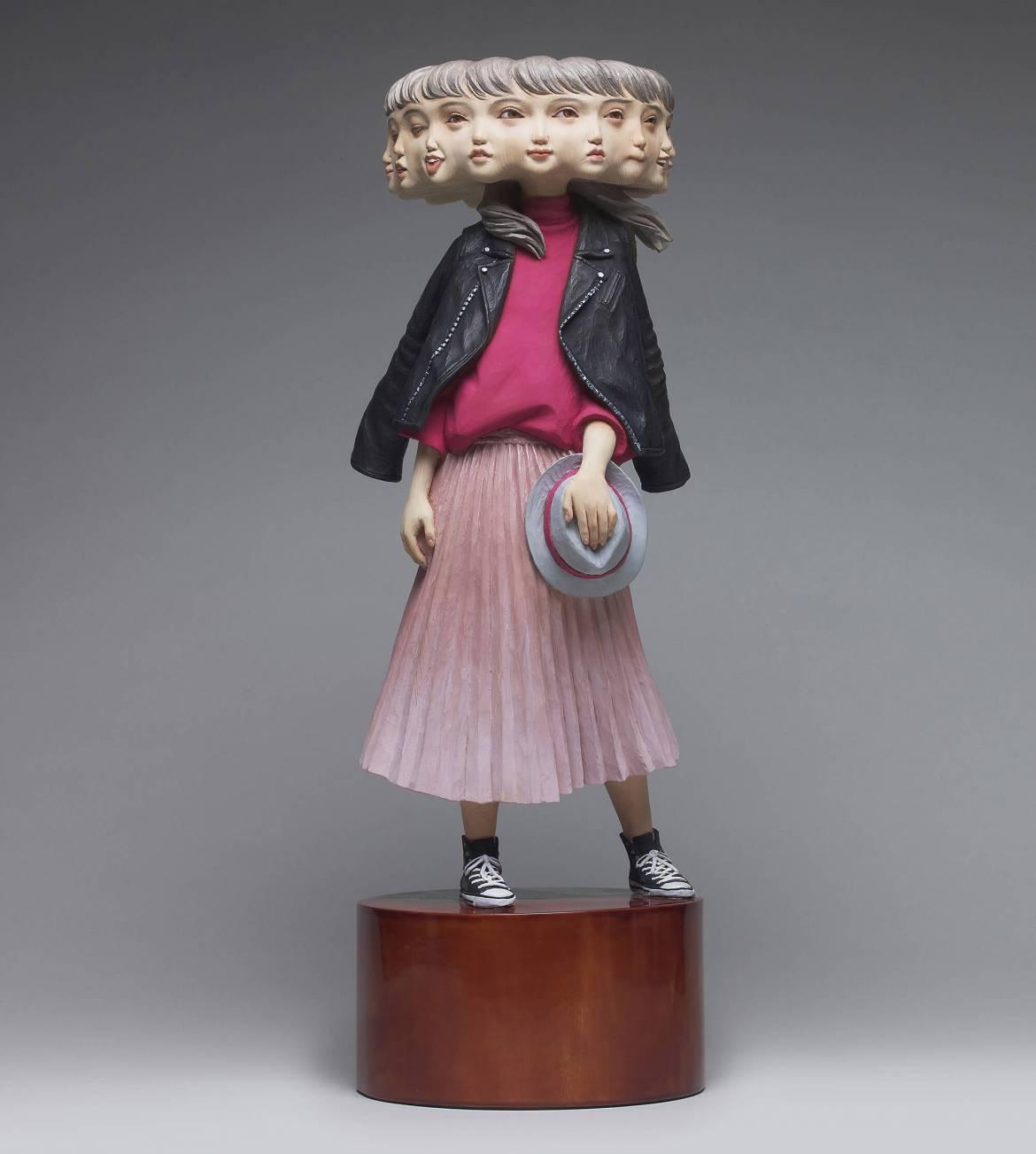 Wooden Sculpture by Yoshitoshi Kanemaki two