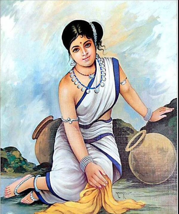 beautiful lady indian paintings -  10