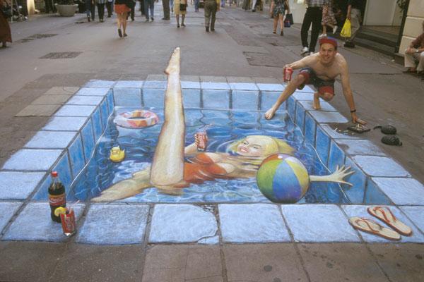 1. Incredible 3d anamorphic illusions Julian Beever