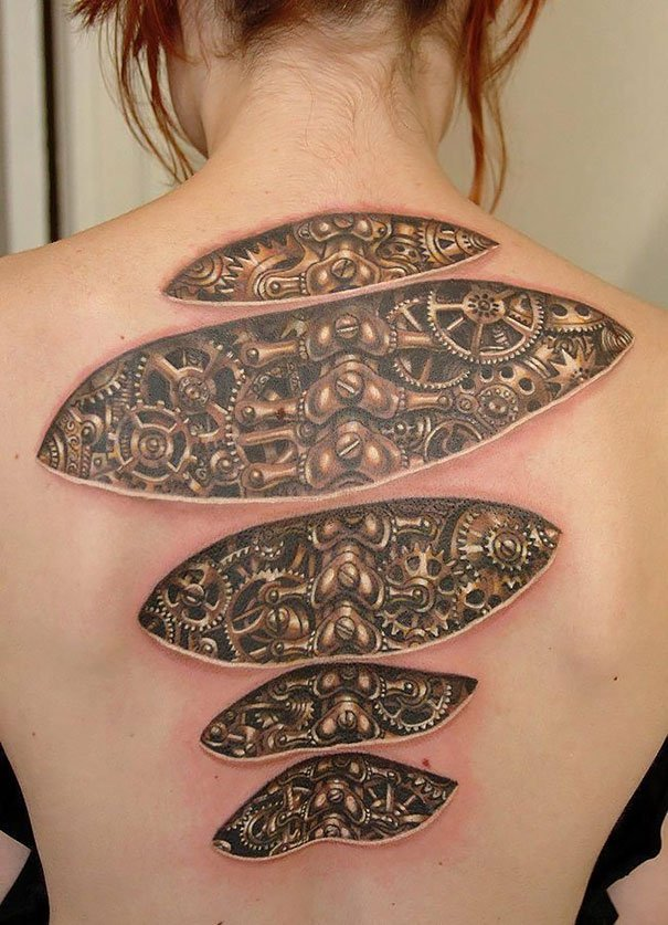 10. 3d tatoo art
