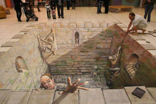 12. Incredible 3d anamorphic illusions Julian Beever