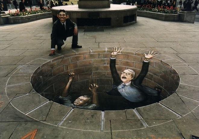 15. Incredible 3d anamorphic illusions Julian Beever