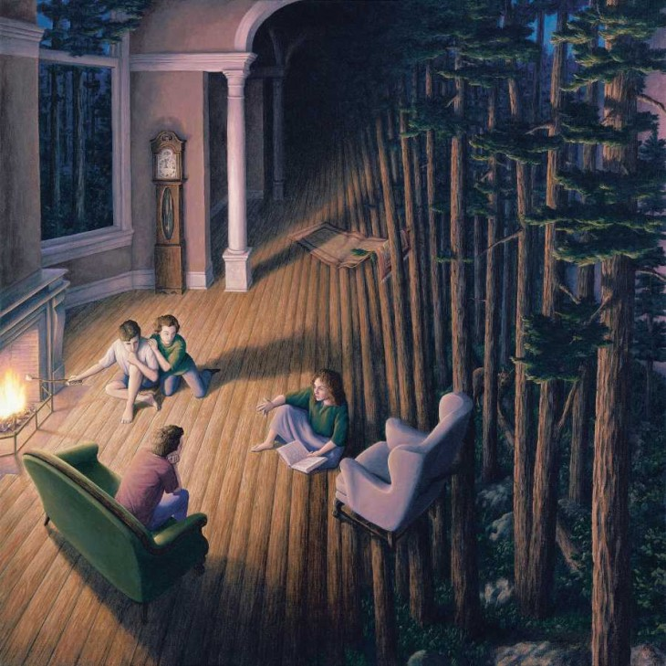 18. Rob Gonsalves Optical Illusion Painting