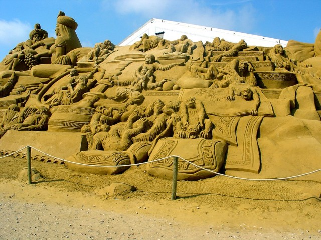 3. Beautiful Sand Sculpture