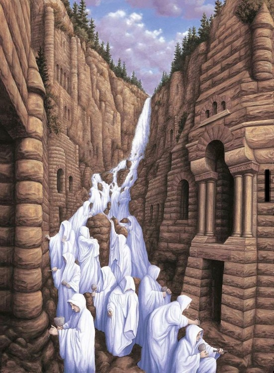 3. Rob Gonsalves Optical Illusion Painting
