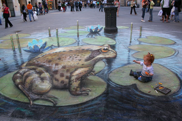 4. Incredible 3d anamorphic illusions Julian Beever