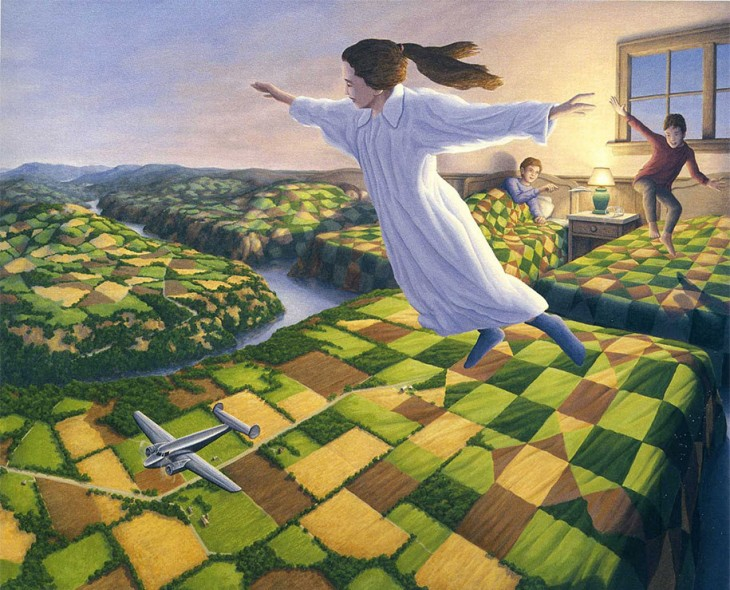 5. Rob Gonsalves Optical Illusion Painting