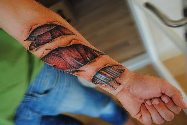 50. 3d tatto art