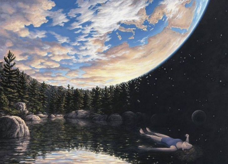 6. Rob Gonsalves Optical Illusion Painting