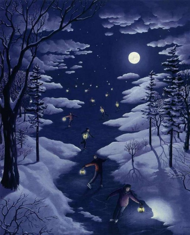 8. Rob Gonsalves Optical Illusion Painting