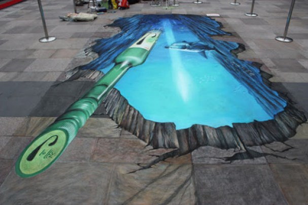 9. 3d street painting