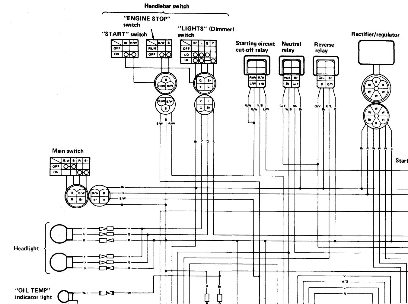 1994 yamaha big bear 350 wiring diagram yamaha dt 125
