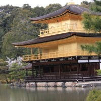 Set fire to the golden pavilion, Kinkakuji temple, Kyoto