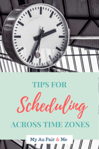 Tips For Scheduling Across Time Zones Pinterest Pin