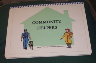 Community Helpers File Folder Game Book