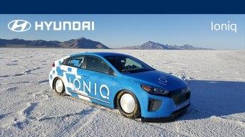 HYUNDAI IONIQ HYBRID SETS LAND SPEED RECORD AT BONNEVILLE SALT FLATS