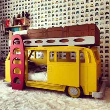 Camper Van Kids Bed Inspiration 34