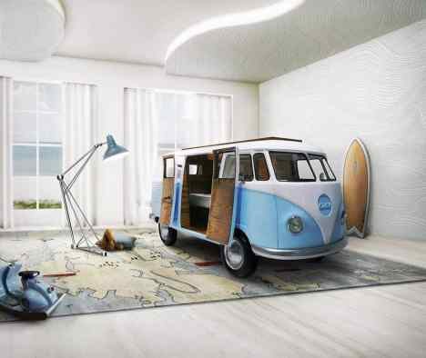 Camper Van Kids Bed Inspiration 46