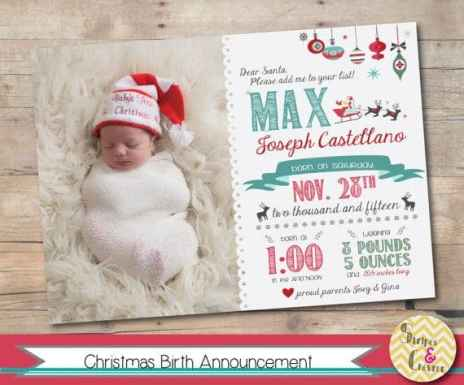 Birth Announcement Christmas Card 11