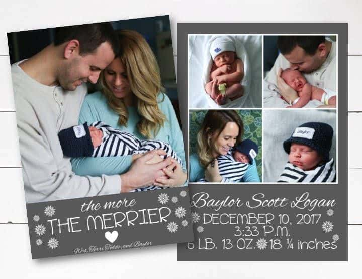 Birth Announcement Christmas Card 16
