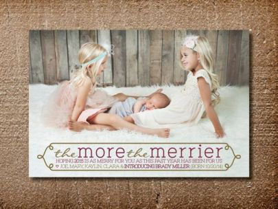 Birth Announcement Christmas Card 19