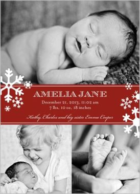 Birth Announcement Christmas Card 7