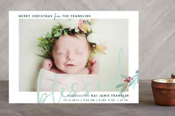 Birth Announcement Christmas Card 9