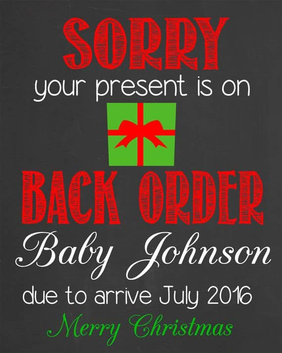 Christmas Pregnacy Announcment 32