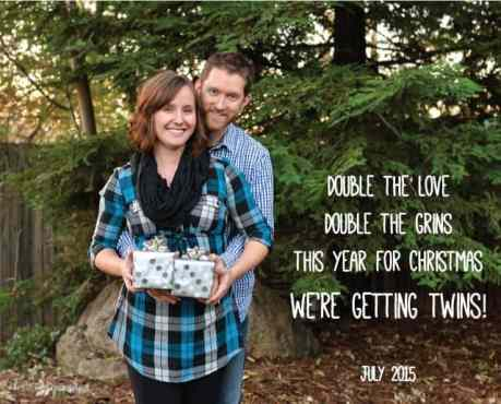 Twin Christmas Announcement 39