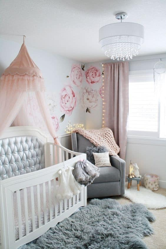 Pink Grey Nursery 12 Result