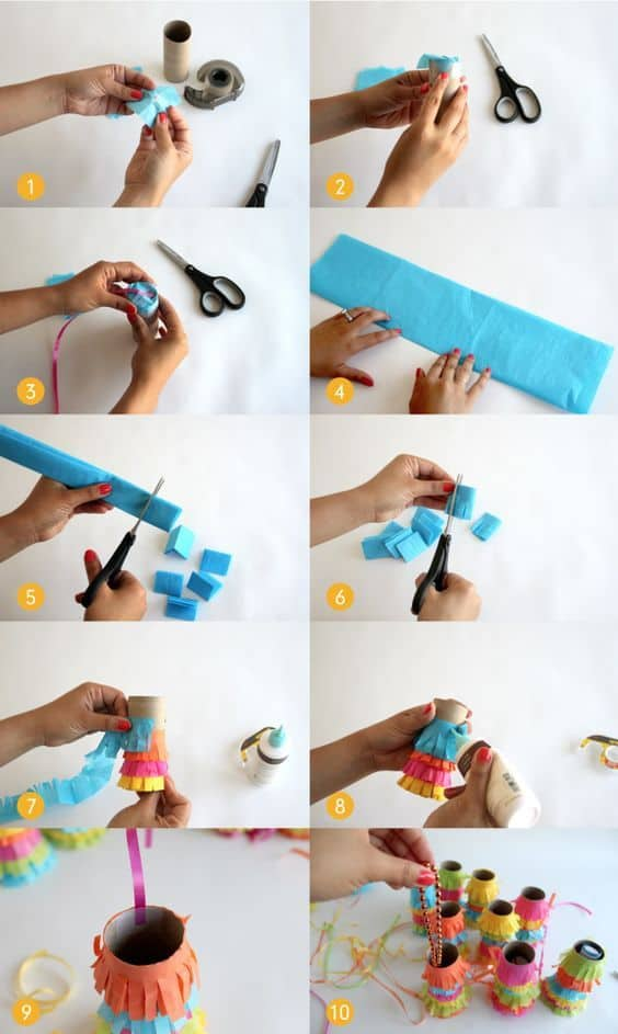 DIY mini piñata pull
