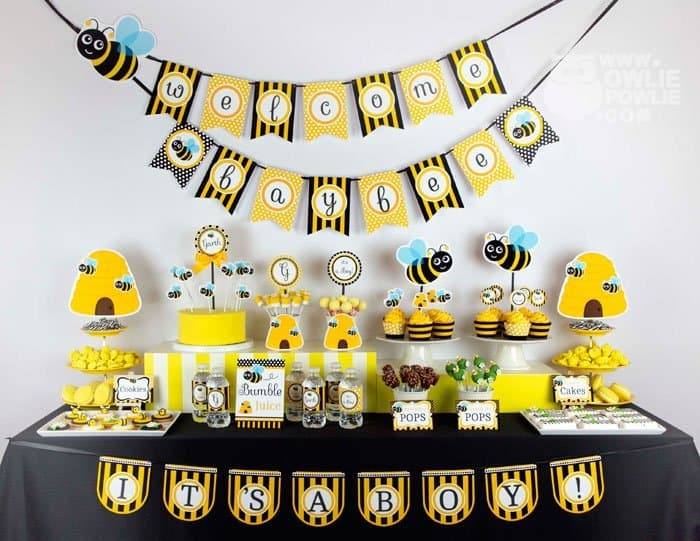 ALL Designs In This Photo Is Included In This FULL Package Bumble Bee Party