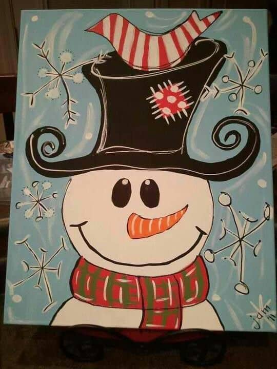 Christmas Canvas Painting 9
