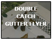 double catch gutter flyer