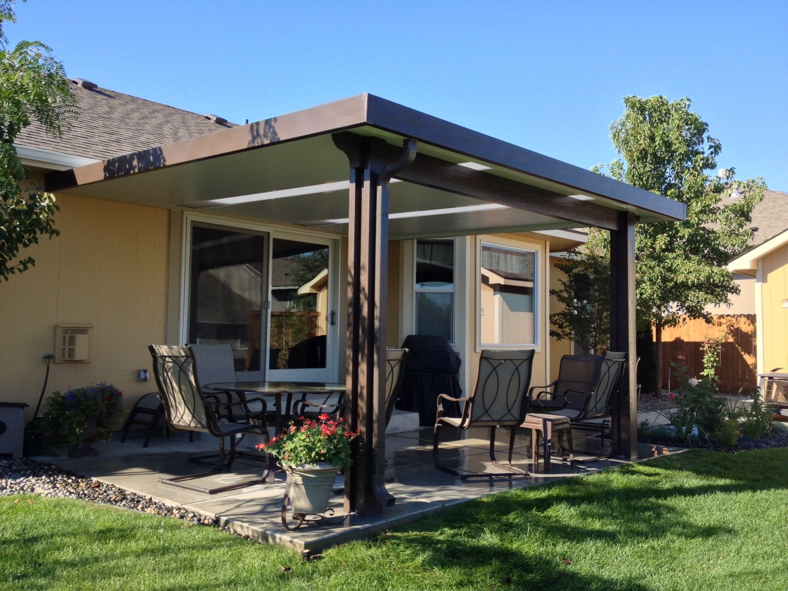 Insulated Patio Cover With Skylights