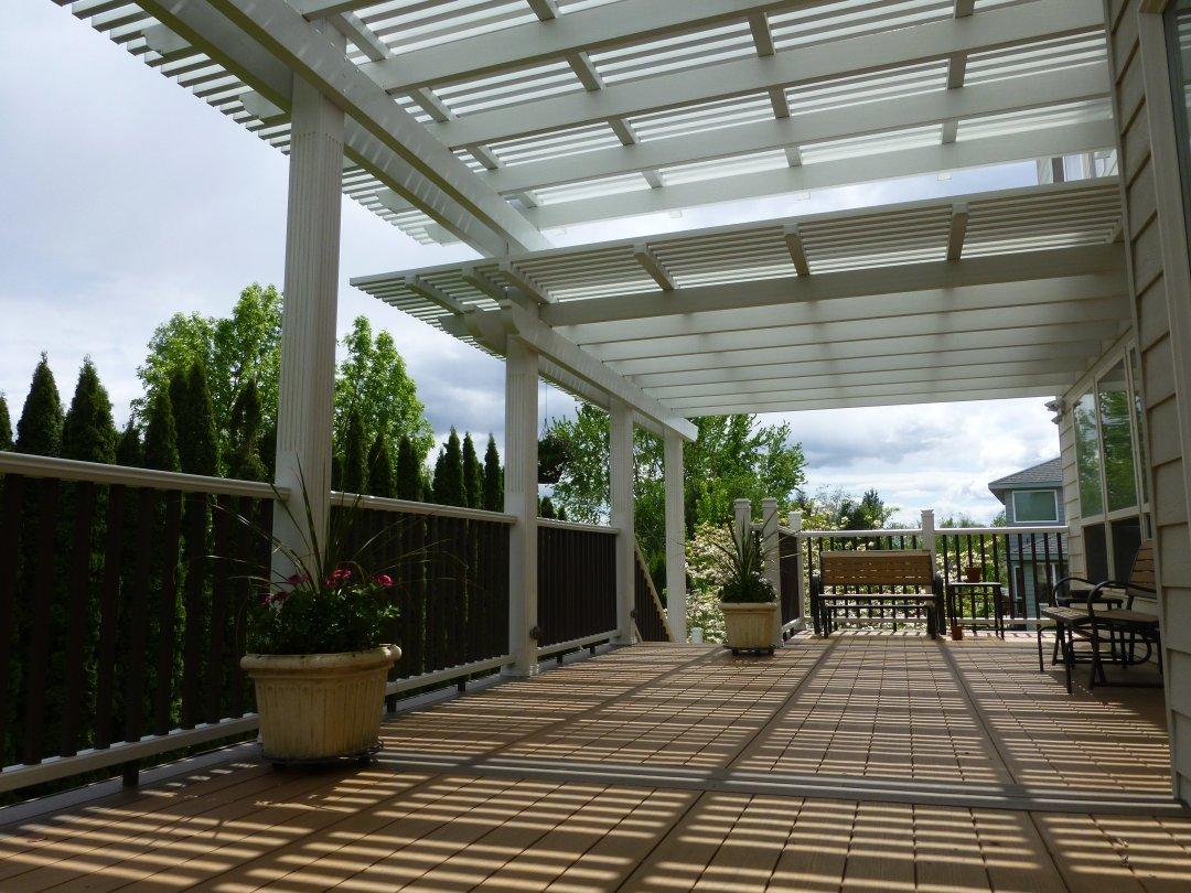 3 tier pergola.deck.handrail