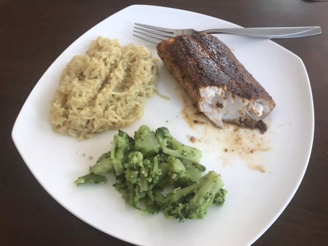 BGE - Bayou-ish Blackened Mahi Mahi Plated