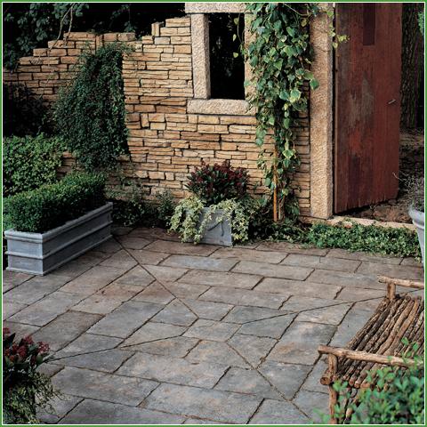 Old Town Flagstone Quartered Square - Backyard Living on My Backyard Living id=12980