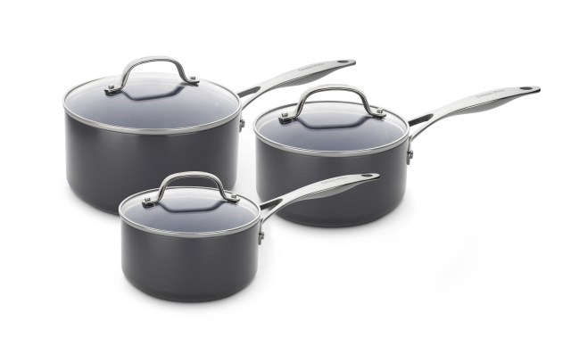 GREENPAN-Venice Pro 3 piece saucepan set