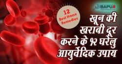 खून की खराबी दूर करने के 12 घरेलु आयुर्वेदिक उपाय |Herbal Remedies for Blood Disorders