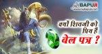 क्यों शिवजी को प्रिय हैं बेल पत्र ? Kyon Shivji Ko Priya hai Bela Patra