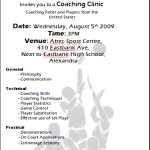 AIA welcomes American coaches for Clinics