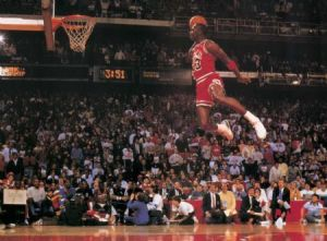 Michael Jordan in the 1988 slam dunk contest